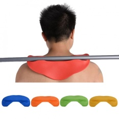 Soft Weight Lifting Squat Shoulder Neck Pad Support Protector Barbell Bar Fitness Mat (Orange) - intl