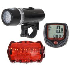 Speedometer sepeda + 5 Kepala Ringan + lampu belakang