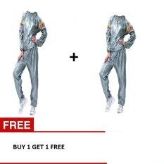 Sport Sauna Suit Baju Sauna Pembakar Lemak - Silver BUY 1 GET 1 FREE