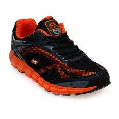 Spotec Dynamo Sepatu Lari - Hitam-Oranye