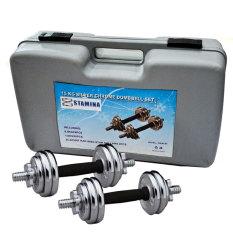 Stamina Dumbell Set Chrome with Box [15 Kg] / Barbel Set Stamina Chrome 15Kg