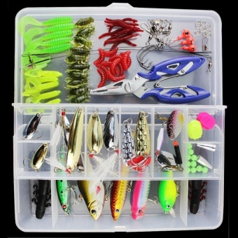 Super Value 101PCS Almighty Fishing Lures Kit with Mixed Hard Lures and Soft Baits Minnow Lures Accessories Box - intl