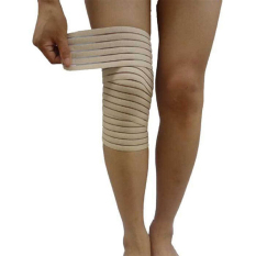 Thin Elbow Wrist Knee Ankle Hand Support Wrap Sport Bandage Compression Strap Beige