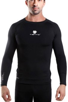 Tiento Baselayer Manset Long Sleeve Black White