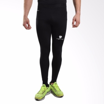 Tiento Baselayer Stretch Legging Celana Ketat Olahraga Gym YogaFitness Running Renang Bola Long Pants Black White Original