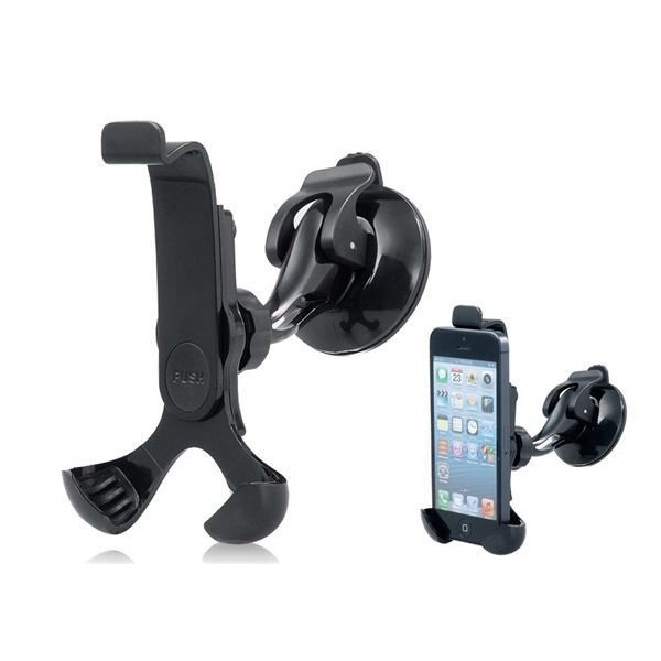 650 360 Degrees Rotatable Adjustable Car Stand with Suction Cup for iPhone5/4/4S/3GS/3G/iPod Touch/iPod Classic (Black)