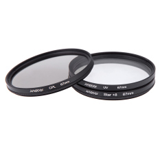 67mm Filter Set UV + CPL + Star 8-Point Filter Kit With Case For Canon Nikon Sony DSLR Camera Lens (Black)