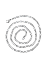 1.4mm Stainless Steel Curb Chain Necklace Silver Tone 52cm