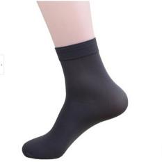 10 Pairs Men's Short Bamboo Fiber Socks Stockings Soft Middle Socks Grey
