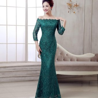 1601002 Gaun Pengantin Hijau Wedding Gown Wedding Dress