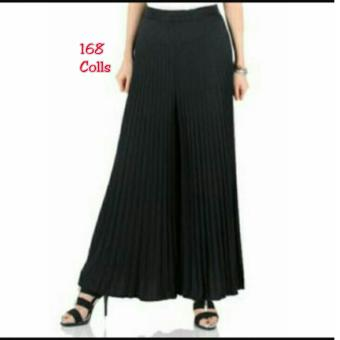 168 Collection Celana Alexandra Kulot Pant-Hitam