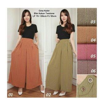 168 Collection Celana Gifta Kulot Long Pant-Hijau 02