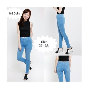 ... 168 Collection Celana Jegging IceBlue Jeans Pant Biru