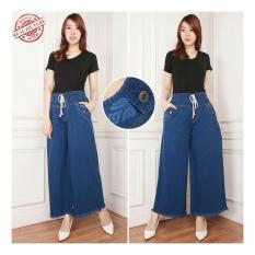 168 Collection Celana Kulot Kenzie Rumbai Long Pant Biru Jual Celana Legging Wanita .