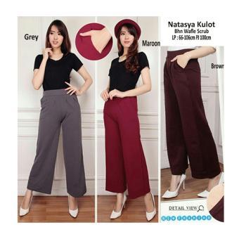 168 Collection Celana Nasya Kulot Long Pant-Maroon