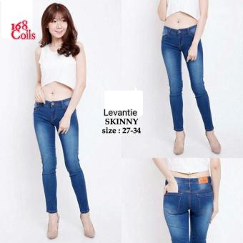 168 Collection Celana Reguler Levantie Jeans Pant-Biru