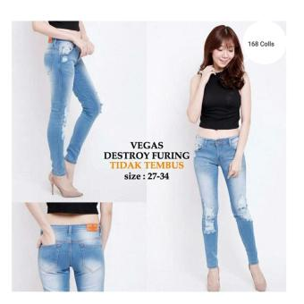 168 Collection Celana Reguler Vergie Jeans Pant-Biru