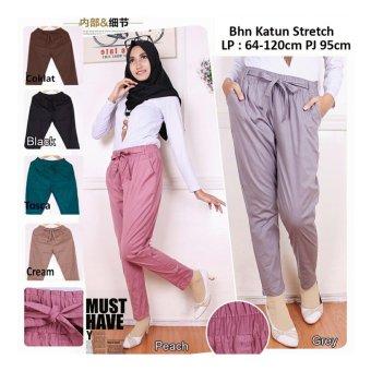 168 Collection Celana Tara Jumbo Long Pant-Coklat