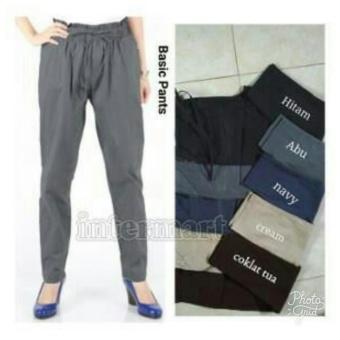 168 Collection Celana Tara Jumbo Long Pant-Hitam