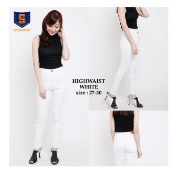 168 Collection Celana Whitely Jeans Pant-Putih