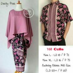 Shinta Abaya Dan Rok Lilit Source 168 Collection Couple Stelan Atasan Blouse Dusty Pink Batwing Dan