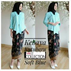 ... 168 Collection Stelan Atasan Blouse Moniq Kebaya Dan rok Lilit Batik Soft Blue