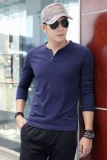 2015 Summer New Fashion Men's Round Neck Long Sleeve Slim T-Shirt
