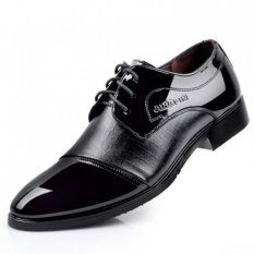 2016 Business Dress Leather Shoes Autumn And Winter The New British Style Patent Leather Shoes Breathable Lace Wedding Shoes