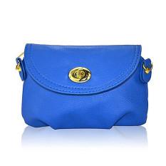 2016 Fashion Women Messenger Bags Cover Zipper Mini Small Women Handbags Women Shoulder Bags Crossbody Bags (Blue) - Intl