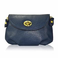 2016 Fashion Women Messenger Bags Cover Zipper Mini Small Women Handbags Women Shoulder Bags Crossbody Bags (Dark Blue) - Intl