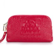 2016 Genuine Leather Women Wallets Females Zipper Clutch Wallets3D Crocodile Alligator Embossed Long Purse Cosmetic Handbag - Intl