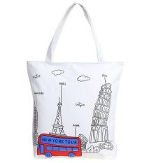 2016 New Canvas Cartoon Printing Girl Woman Man Shoulder Bag Handbag Character Lady Female Large Capacity Casual Tote