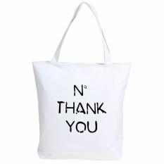 2016 New Canvas Cartoon Printing Girl Woman Man Shoulder Bag Handbag Character Lady Female Large Capacity Casual Tote White