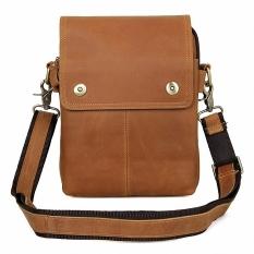 2016 New Fashion Men Bags Genuine Leather Business Travel Messenger Bag Brand Design Men's Shoulder Bag 2 Colors LI-1619 - Intl