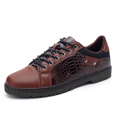 2016 New Style Men's Lace Up Comfortable Classic Casual Oxfords Shoes (Brown)
