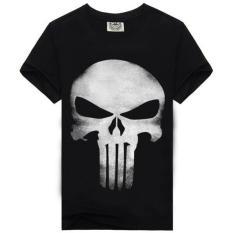 2016 New Summer Style Men's T-shirt Punisher Skull Head 3d Printing Heavy Metal Tees Short Sleeves Men Casual Shirt - Intl
