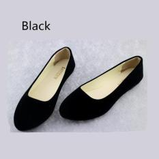 2016 Spring Autumn Korean Fashion Pointed Women Flat Shoes Shallow Mouth Candy Color Shoes (Black) - intl