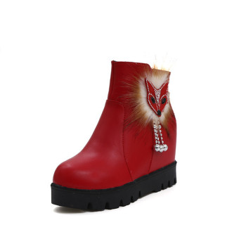 2016 Winter warm Tassels shoes women fashion Increase boots women(Red) - intl