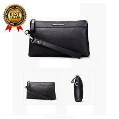 2017 New Pabojoe Mens Clutch Bag Genuine Leather Women Designer Handbags High Quality Zipper Pouch Travel Organizer 20117041 (coffe) - intl