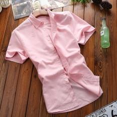 2017 New Summer Fashion Men's Short-sleeves Shirt Casual Sport Pure Cotton Shirt Formal Short