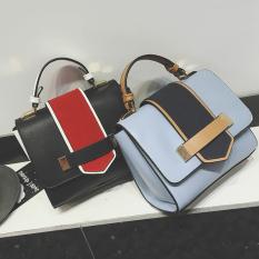 2017 Women's Handbag Korean Style Small Package Contrast Color New Autumn Fashion Small Handbag Leisure Shoulder Bag Crossbody Bag - Intl