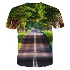 3D Digital Printing Men Graphic Animal Galaxy Rich Pattern Short Sleeve T-shirt (13) - Intl