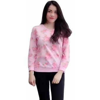 3KFashion - Flower Rose Sweater - Baby Terry - Pink
