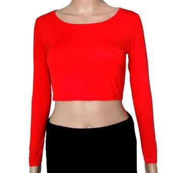 3pcs/lot Muslim Long Sleeve Half-length T-shirt for Women (Red/Rose/White)