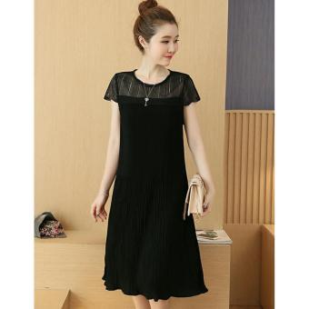 11ebf4cc31 8097  Summer Fashion Pleated Chiffon Maternity Dress Slim   Loose Bodycon  Clothes for Pregnant Women