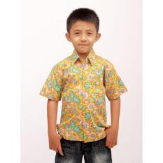 Aamir Kinsler BA06 Kemeja Batik Anak Tangan Pendek (Orange)