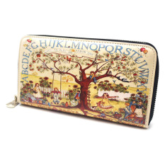 Abstract Painted Zipped Wallet Purse For Women / Girl (Park) - 8 CardSlots - Intl
