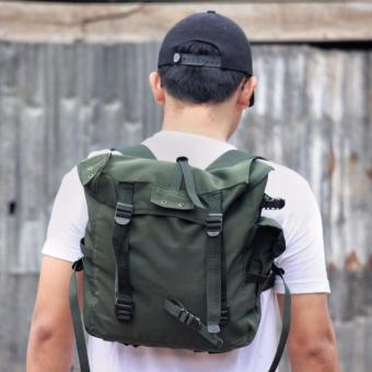 Adamsbell Tas Tempur 2 in 1 Army-Themed Ransel Slempang M1945 - Army Green c6409b7117