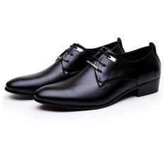 Ai Home bertali sepatu kulit PU untuk pria kerja santai Hitam - Internasional