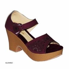 Aldhino Sepatu Sandal Wedges Wanita BJ 03 - Maroon